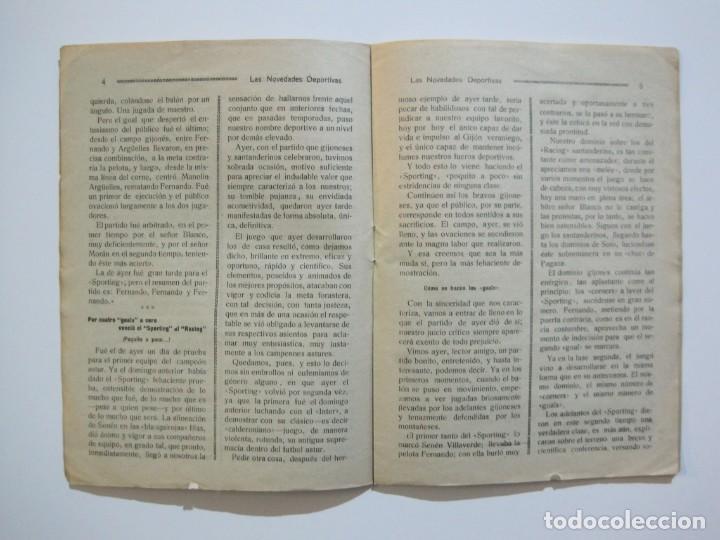 Coleccionismo deportivo: LAS NOVEDADES DEPORTIVAS-REVISTA QUINCENAL ILUSTRADA-MED. 15X21CM. SANTANDER AÑO 1919-NUM 2- (V-32) - Foto 8 - 26350037