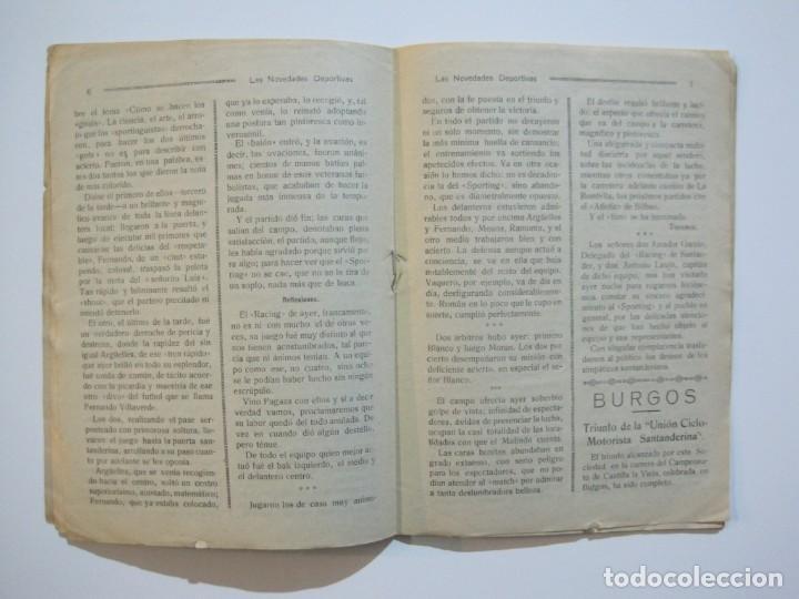 Coleccionismo deportivo: LAS NOVEDADES DEPORTIVAS-REVISTA QUINCENAL ILUSTRADA-MED. 15X21CM. SANTANDER AÑO 1919-NUM 2- (V-32) - Foto 9 - 26350037
