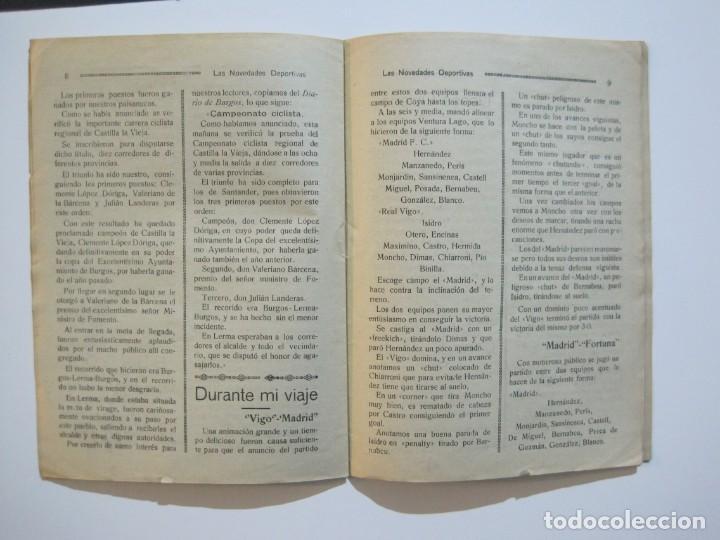 Coleccionismo deportivo: LAS NOVEDADES DEPORTIVAS-REVISTA QUINCENAL ILUSTRADA-MED. 15X21CM. SANTANDER AÑO 1919-NUM 2- (V-32) - Foto 10 - 26350037