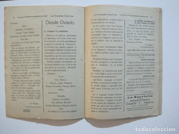 Coleccionismo deportivo: LAS NOVEDADES DEPORTIVAS-REVISTA QUINCENAL ILUSTRADA-MED. 15X21CM. SANTANDER AÑO 1919-NUM 2- (V-32) - Foto 11 - 26350037