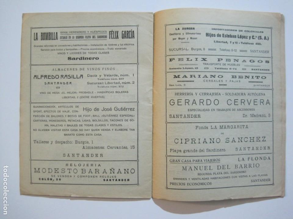 Coleccionismo deportivo: LAS NOVEDADES DEPORTIVAS-REVISTA QUINCENAL ILUSTRADA-MED. 15X21CM. SANTANDER AÑO 1919-NUM 2- (V-32) - Foto 13 - 26350037