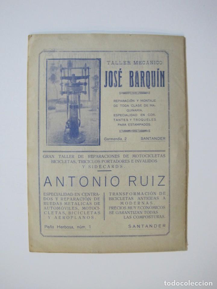 Coleccionismo deportivo: LAS NOVEDADES DEPORTIVAS-REVISTA QUINCENAL ILUSTRADA-MED. 15X21CM. SANTANDER AÑO 1919-NUM 2- (V-32) - Foto 15 - 26350037