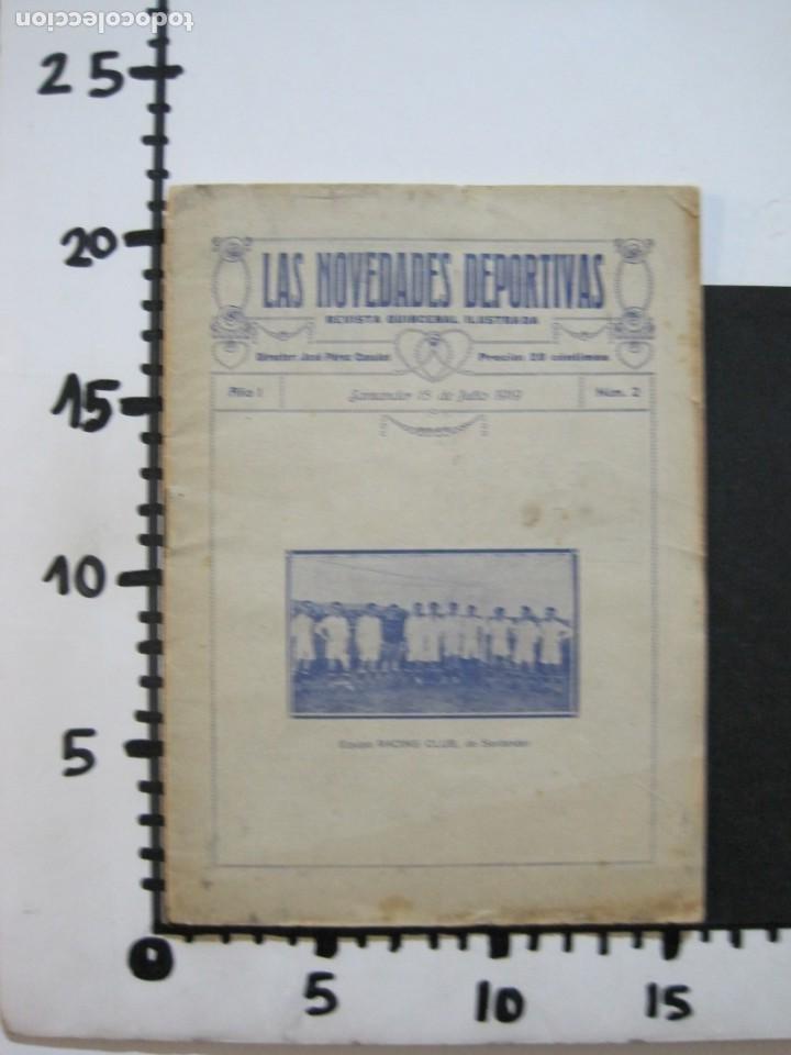 Coleccionismo deportivo: LAS NOVEDADES DEPORTIVAS-REVISTA QUINCENAL ILUSTRADA-MED. 15X21CM. SANTANDER AÑO 1919-NUM 2- (V-32) - Foto 17 - 26350037
