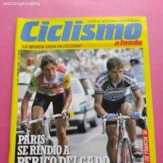 Coleccionismo deportivo: REVISTA CICLISMO A FONDO Nº 34 - 1988 PERICO DELGADO GANADOR TOUR DE FRANCIA 88 REYNOLDS POSTER. Lote 218552341