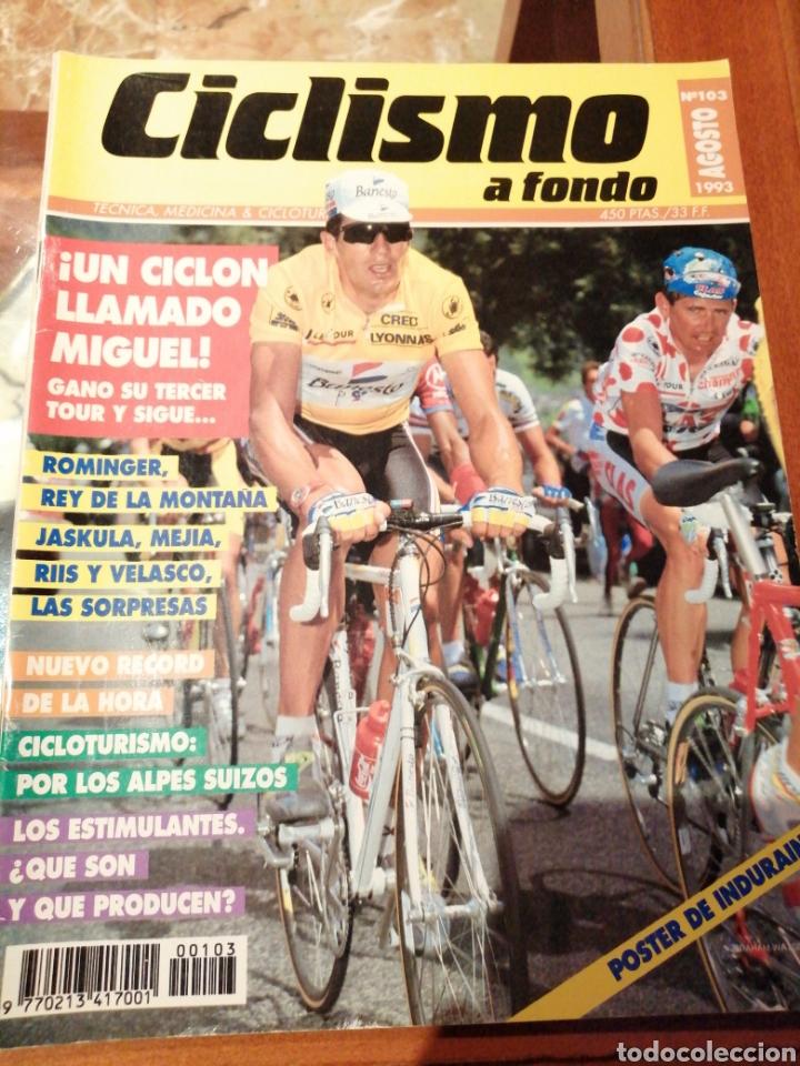 CICLISMO A FONDO REVISTA N°103 - TOUR FRANCIA 1993 INDURAIN (Coleccionismo Deportivo - Revistas y Periódicos - otros Deportes)