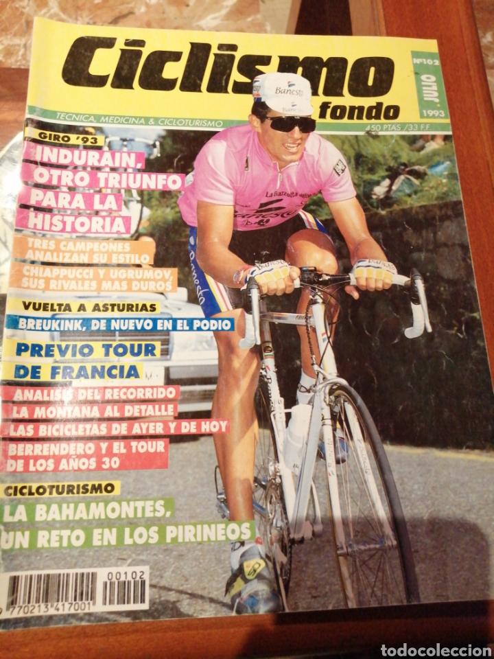 CICLISMO A FONDO REVISTA N°102 - GIRO ITALIA 1993 INDURAIN (Coleccionismo Deportivo - Revistas y Periódicos - otros Deportes)