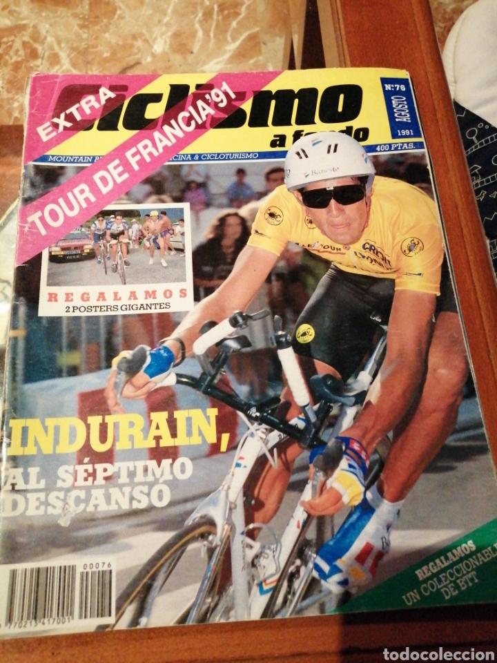 CICLISMO A FONDO REVISTA N°76 - TOUR FRANCIA 1991 INDURAIN (Coleccionismo Deportivo - Revistas y Periódicos - otros Deportes)