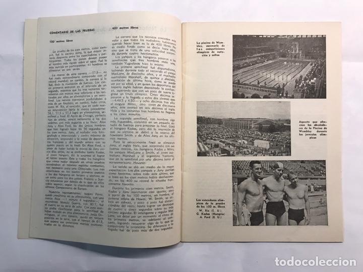 Coleccionismo deportivo: STADIUM, Boletín de Divulgación del Deporte Olimpico. Juegos Olímpicos de Londres (a.1948) - Foto 3 - 218746077