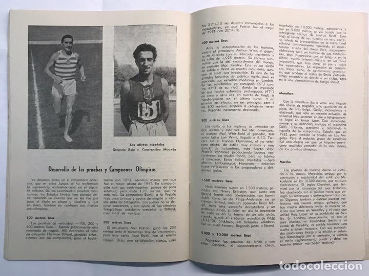 Coleccionismo deportivo: STADIUM, Boletín de Divulgación del Deporte Olimpico. Juegos Olímpicos de Londres (a.1948) - Foto 5 - 218746077