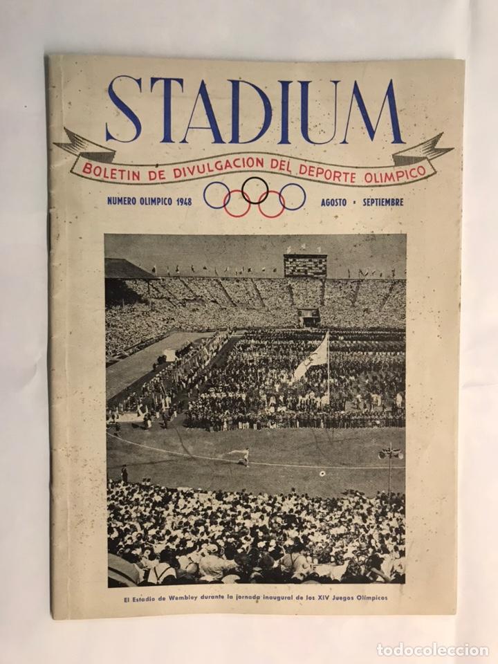 STADIUM, BOLETÍN DE DIVULGACIÓN DEL DEPORTE OLIMPICO. JUEGOS OLÍMPICOS DE LONDRES (A.1948) (Coleccionismo Deportivo - Revistas y Periódicos - otros Deportes)