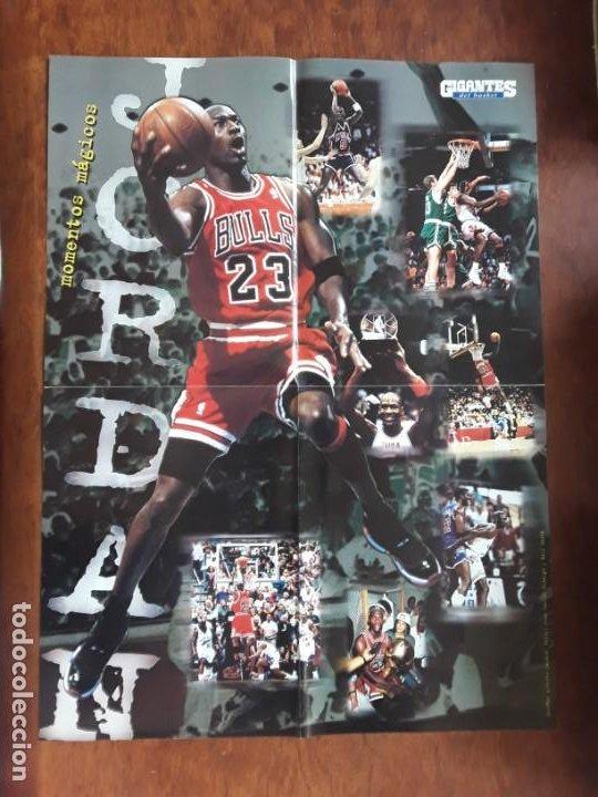 POSTER MICHAEL JORDAN MEDIDAS 41 X55 CM NUEVO SIN USO +REVISTA GIGANTES BASKET Nº 690 AÑO 1999 (Coleccionismo Deportivo - Revistas y Periódicos - otros Deportes)