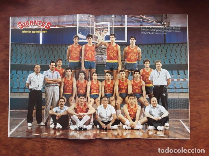 GIGANTES DEL BASKET Nº 136 AÑO 1987 POSTER SELECCION ESPAÑOLA 1988 NUEVO SIN USO (Coleccionismo Deportivo - Revistas y Periódicos - otros Deportes)