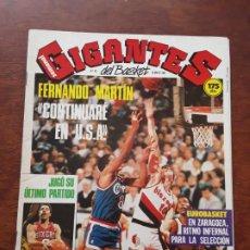 Coleccionismo deportivo: GIGANTES DEL BASKET Nº 80 AÑO 1987 FERNANDO MARTIN EPI JULIUS ERVING DOCTO J ULTIMO PARTIDO POSTER. Lote 219290316