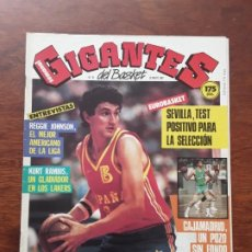Coleccionismo deportivo: GIGANTES DEL BASKET Nº 81 AÑO 1987 KURT RAMBIS POSTER JOE BARRY CARROL. Lote 219290518