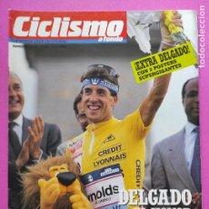 Coleccionismo deportivo: REVISTA EXTRA CICLISMO A FONDO Nº 2 - 1988 PERICO DELGADO GANADOR TOUR 88 REYNOLDS + POSTER GIGANTE. Lote 219321262
