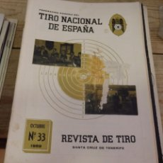 Coleccionismo deportivo: TENERIFE, REVISTA TIRO NACIONAL DE ESPAÑA, OCTUBRE 1959, Nº 33. Lote 219322853
