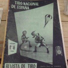 Coleccionismo deportivo: TENERIFE, REVISTA TIRO NACIONAL DE ESPAÑA, NOVIEMBRE 1960, Nº 46. Lote 219323086