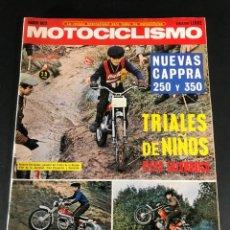 Collectionnisme sportif: REVISTA MOTOCICLISMO MOTO MOTOCROSS MOTO CROSS MARZO 1972 TRIALES DE NIÑOS BULTACO TIRON. Lote 219357086