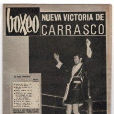 Coleccionismo deportivo: REVISTA BOXEO. JULIO. Nº106. NUEVO VICTORIA DE CARRASCO.. Lote 219430100
