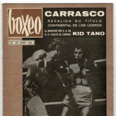 Coleccionismo deportivo: REVISTA BOXEO. JUNIO 1968.CARRASCO REVALIDA SU TITULO CONTINENTAL DE LOS LIGEROS.. Lote 219430540