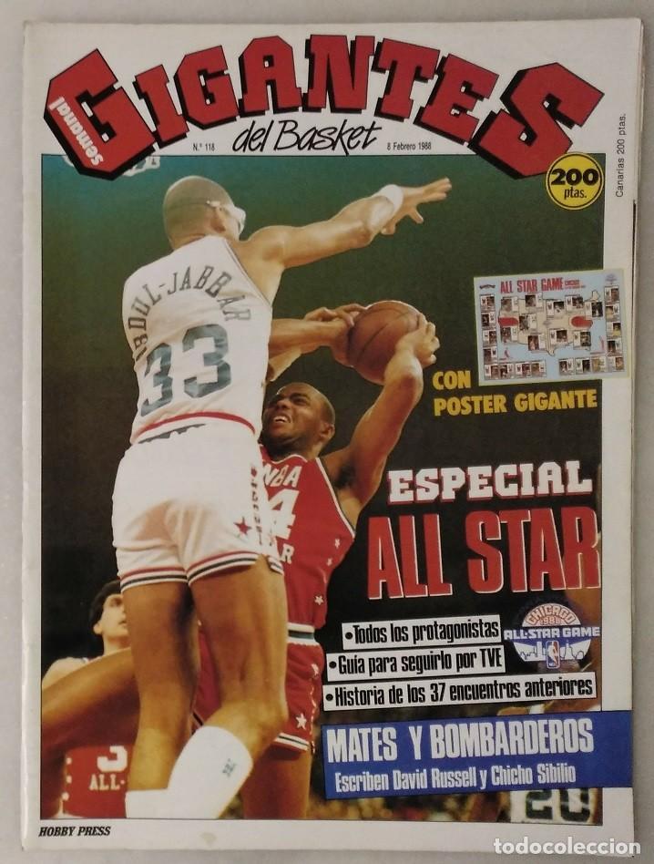Coleccionismo deportivo: Colección de 115 de las 131 primeras revistas Gigantes del Basket (1985-88) + Especial Jordan - Foto 24 - 162988738