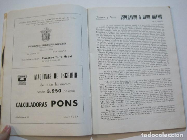 Coleccionismo deportivo: CICLISMO-V TROFEO SEBASTIAN CAMPRUBI-REVISTA PROGRAMA-AÑO 1969-VER FOTOS(V-22.289) - Foto 8 - 219896605