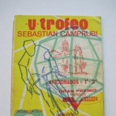 Coleccionismo deportivo: CICLISMO-V TROFEO SEBASTIAN CAMPRUBI-REVISTA PROGRAMA-AÑO 1969-VER FOTOS(V-22.289). Lote 219896605