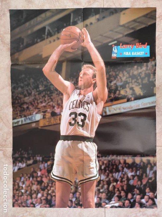 Coleccionismo deportivo: REVISTA FIBA BASKET Nº 12 1992 - ESPECIAL NBA 92/93 - 3 POSTERS GIGANTES - LARRY BIRD - AUDIE NORRIS - Foto 2 - 220809335