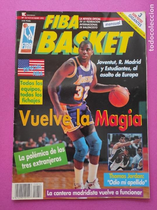 REVISTA FIBA BASKET Nº 12 1992 - ESPECIAL NBA 92/93 - 3 POSTERS GIGANTES - LARRY BIRD - AUDIE NORRIS (Coleccionismo Deportivo - Revistas y Periódicos - otros Deportes)