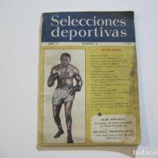 Coleccionismo deportivo: BOXEO-ARCHIE MOORE-SELECCIONES DEPORTIVAS-Nº 9-REVISTA ANTIGUA-VER FOTOS-(K-710). Lote 221305085