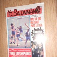 Coleccionismo deportivo: YO BALONMANO Nº 7 AGOSTO 1985. Lote 221392211