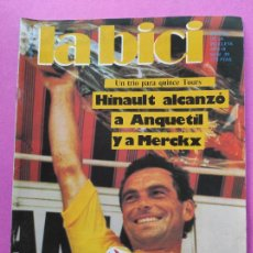 Collezionismo sportivo: REVISTA LA BICI Nº 39 1985 HINAULT GANDOR QUINTO TOUR DE FRANCIA 85. Lote 221524486