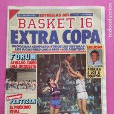 Coleccionismo deportivo: REVISTA ESTRELLAS BASKET 16 Nº 11 1987 - EXTRA COPA DEL REY 97 - POSTER FORUM FILATELICO VALLADOLID. Lote 221547798