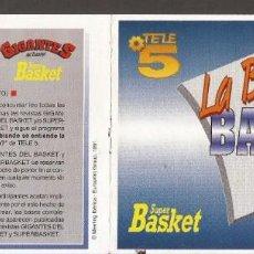 Coleccionismo deportivo: AMG-925 JUEGO RASCA LA BASCA CON EL BASKET REVISTA GIGANTES DEL BASKET. Lote 221788052