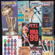 Coleccionismo deportivo: AMG-930 CALENDARIOS TEMPORADAS REVISTA OFICIAL NBA. Lote 221790353