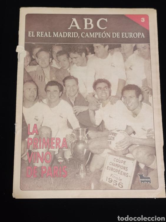 EL REAL MADRID,CAMPEON DE EUROPA,PERIODICO ABC, N° 3. LA PRIMERA VINO DE PARIS. (Coleccionismo Deportivo - Revistas y Periódicos - otros Deportes)