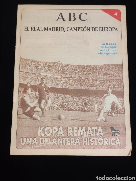 EL REAL MADRID,CAMPEON DE EUROPA,PERIODICO ABC, N° 4. KOPA REMATA UNA DELANTERA HISTORICA. (Coleccionismo Deportivo - Revistas y Periódicos - otros Deportes)