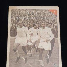 Coleccionismo deportivo: EL REAL MADRID,CAMPEON DE EUROPA,PERIODICO ABC, N° 5. VUELTA OLIMPICA EN CHAMARTIN.. Lote 222535432