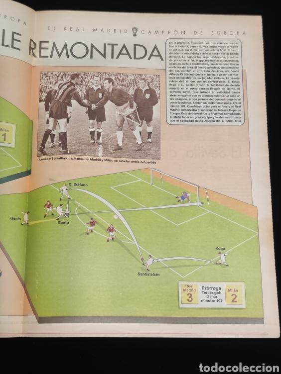 Coleccionismo deportivo: El Real Madrid,campeon de europa,periodico ABC, N° 7. Cayo el Milan. - Foto 2 - 222536615