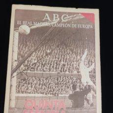 Coleccionismo deportivo: EL REAL MADRID,CAMPEON DE EUROPA,PERIODICO ABC, N° 11. QUINTA ESENCIA.. Lote 222543472