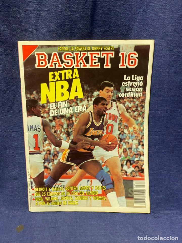 REVISTA BASKET 16 1988 NUM 57 (Coleccionismo Deportivo - Revistas y Periódicos - otros Deportes)