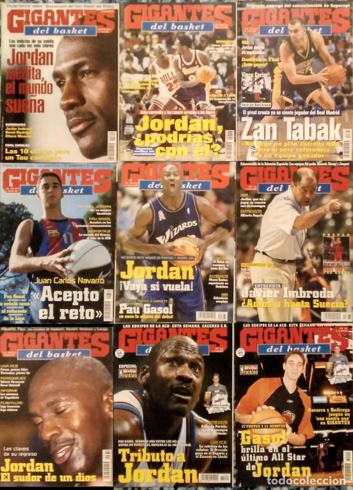 MICHAEL JORDAN & WASHINGTON WIZARDS - 14 REVISTAS ''GIGANTES DEL BASKET'' (2001-2003) - NBA (Coleccionismo Deportivo - Revistas y Periódicos - otros Deportes)