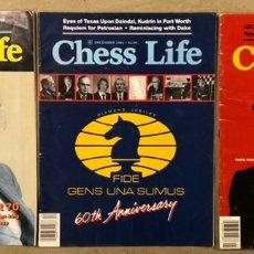 Coleccionismo deportivo: CHESS LIFE & REVIEW (1984/85). LOTE DE 3 REVISTAS AJEDREZ UNITED STATES CHESS FEDERATION.. Lote 224621250