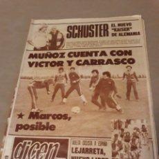 Coleccionismo deportivo: PERIODICO DICEN N° 5742 26 DE ABRIL DE 1983 .MARADONA ; SCHUSTER , VICTOR , CARRASCO , MARCOS. Lote 224624482
