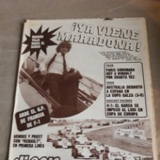 Coleccionismo deportivo: DIARIO DEPORTIVO DICEN N° 5477 . 25 DE JULIO DE 1982 . ¡YA VIENE MARADONA!. Lote 224719650