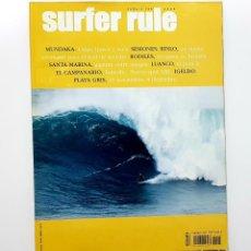 Coleccionismo deportivo: REVISTA DE SURF SURFER RULE NÚMERO 105 2006 MUNDAKA,RODILES,LUANCO,PLAYA GRIS (BIEN CONSERVADA). Lote 224893123