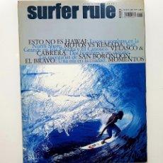 Coleccionismo deportivo: REVISTA DE SURF SURFER RULE NÚMERO 106 2007 MOTOS VS REMADA,VELASCO & CABRERA, (BIEN CONSERVADA). Lote 224893850