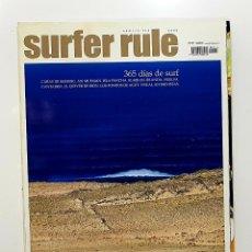 Coleccionismo deportivo: REVISTA DE SURF SURFER RULE NÚMERO 114 2008 365 DÍAS DE SURF,AXI MUNIAIN (BIEN CONSERVADA). Lote 224895325