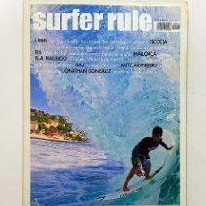 Coleccionismo deportivo: REVISTA DE SURF SURFER RULE NÚMERO 116 2008 ARITZ ARANBURU,JONATHAN GONZALEZ,BALI (BIEN CONSERVADA). Lote 224895812