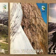 Coleccionismo deportivo: C.D. NAVARRA N° 7, 10 Y 12 (1970/71). LOTE DE 3 REVISTAS DEL CLUB DEPORTIVO NAVARRA (MONTAÑA - ESQUI. Lote 224918272